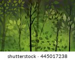 abstract green background with... | Shutterstock .eps vector #445017238