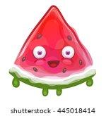 cartoon watermelon   Shutterstock .eps vector #445018414