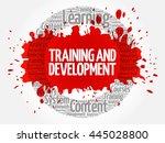 training and development circle ... | Shutterstock .eps vector #445028800