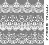 vector set with baroque... | Shutterstock .eps vector #445032160