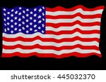 united states flag on black... | Shutterstock . vector #445032370