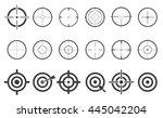 target set icons sight sniper... | Shutterstock .eps vector #445042204