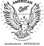 american spirit monochrome...   Shutterstock .eps vector #445043614