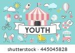 children kids energetic youth... | Shutterstock . vector #445045828