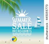 summer sale label | Shutterstock .eps vector #445055773