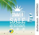 summer sale label | Shutterstock .eps vector #445055863