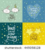 dreams  good night  love... | Shutterstock .eps vector #445058128