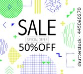 sale and special offer modern... | Shutterstock .eps vector #445060270