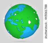 vector poly earth globe...   Shutterstock .eps vector #445061788