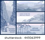 outdoor thematic banner design... | Shutterstock .eps vector #445063999