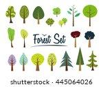 raster copy. color forest set....   Shutterstock . vector #445064026