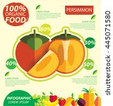 persimmon. infographic template.... | Shutterstock .eps vector #445071580