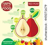 red pear. infographic template. ... | Shutterstock .eps vector #445071679