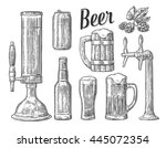 beer tap  class  can  bottle ... | Shutterstock .eps vector #445072354
