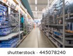 diy store aisle with shelves... | Shutterstock . vector #445078240