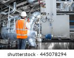 engineer working in a thermal... | Shutterstock . vector #445078294