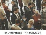 colleagues buffet party brunch... | Shutterstock . vector #445082194
