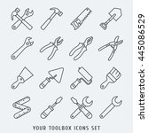 toolbox icons set lines vector... | Shutterstock .eps vector #445086529
