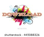 vector grungy scribble banner... | Shutterstock .eps vector #445088326