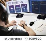 user interface operating system ... | Shutterstock . vector #445089520