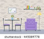 interior of living room and... | Shutterstock .eps vector #445089778