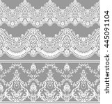 vintage floral elements. vector ... | Shutterstock .eps vector #445091104