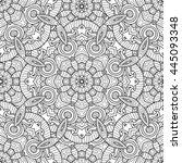 abstract vector decorative... | Shutterstock .eps vector #445093348