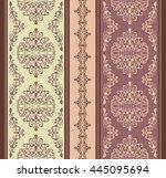 vintage vector pattern. hand... | Shutterstock .eps vector #445095694