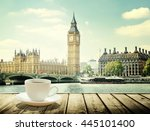 big ben and cup of coffee ...