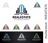 real estate vector logo design  ... | Shutterstock .eps vector #445107670