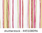 striped pink  green and white... | Shutterstock . vector #445108096