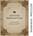 vector vintage old paper... | Shutterstock .eps vector #445111150