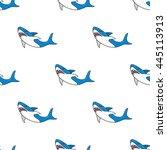shark pattern. vector... | Shutterstock .eps vector #445113913