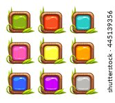 cartoon vector square buttons...