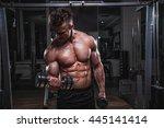 biceps day. | Shutterstock . vector #445141414
