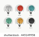 six thinking hats concept... | Shutterstock . vector #445149958