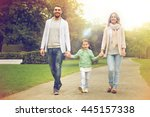 family  parenthood  adoption... | Shutterstock . vector #445157338