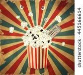 vector illustration of popcorn... | Shutterstock .eps vector #445166614