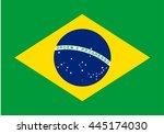 brazil flag vector | Shutterstock .eps vector #445174030