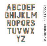 vector rainbow alphabet.