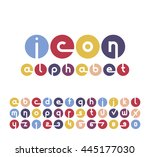 vector icons alphabet set.... | Shutterstock .eps vector #445177030