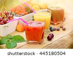 healthy refreshing fruit drink | Shutterstock . vector #445180504