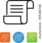 paper script with text. vector... | Shutterstock .eps vector #445180768