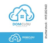 Vector Cloud And House Logo...