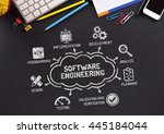 software engineering chart with ... | Shutterstock . vector #445184044