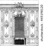 interior panel of rohan hotel... | Shutterstock . vector #445198120