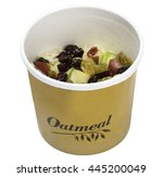 fast food   oatmeal in a to go... | Shutterstock . vector #445200049