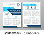 brochure flyer design layout ... | Shutterstock .eps vector #445202878