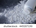 talcum powder on black... | Shutterstock . vector #445207150