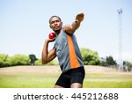 Male Athlete About To Throw...